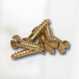 Brass Plated Slotted Oval Head Screws